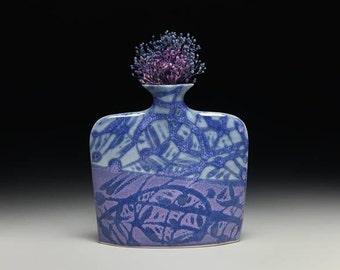 Medium porcelain slab flower vase = item #02-V7