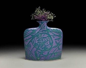 Medium porcelain slab flower vase = item #02-V1