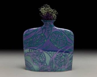 Large porcelain slab flower vase = item #03-V6