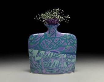 Medium porcelain slab flower vase = item #02-V6