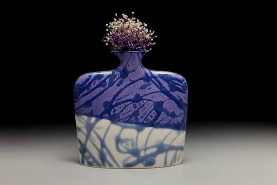 Medium porcelain slab flower vase = item #02-V8