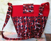 Handbag or Tote With Peace Sign Design Red White and Blue Ready to Ship 40% OFF use code 40coupon at Checkout