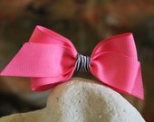 Pink Bow with Zebra Center