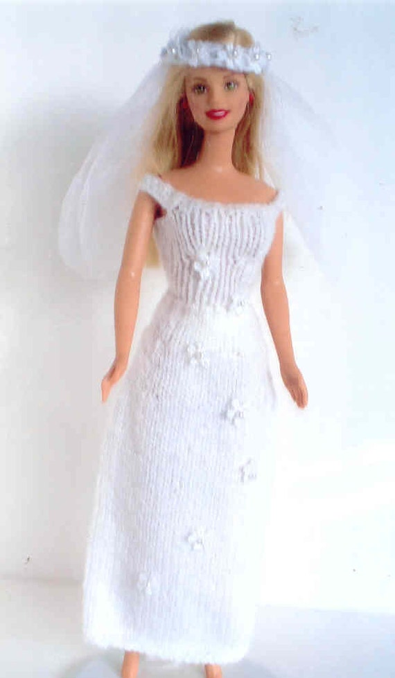 Knit Wedding Dress Slim Style With Added Lace Flowers With