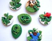 Button Jack and the Beanstalk handmade polymer clay buttons ( 7 )