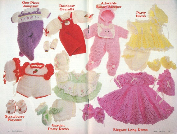 Annie's Attic DAINTY DRESS-UP Crochet Baby Clothes - Out of Print 1986 Publication