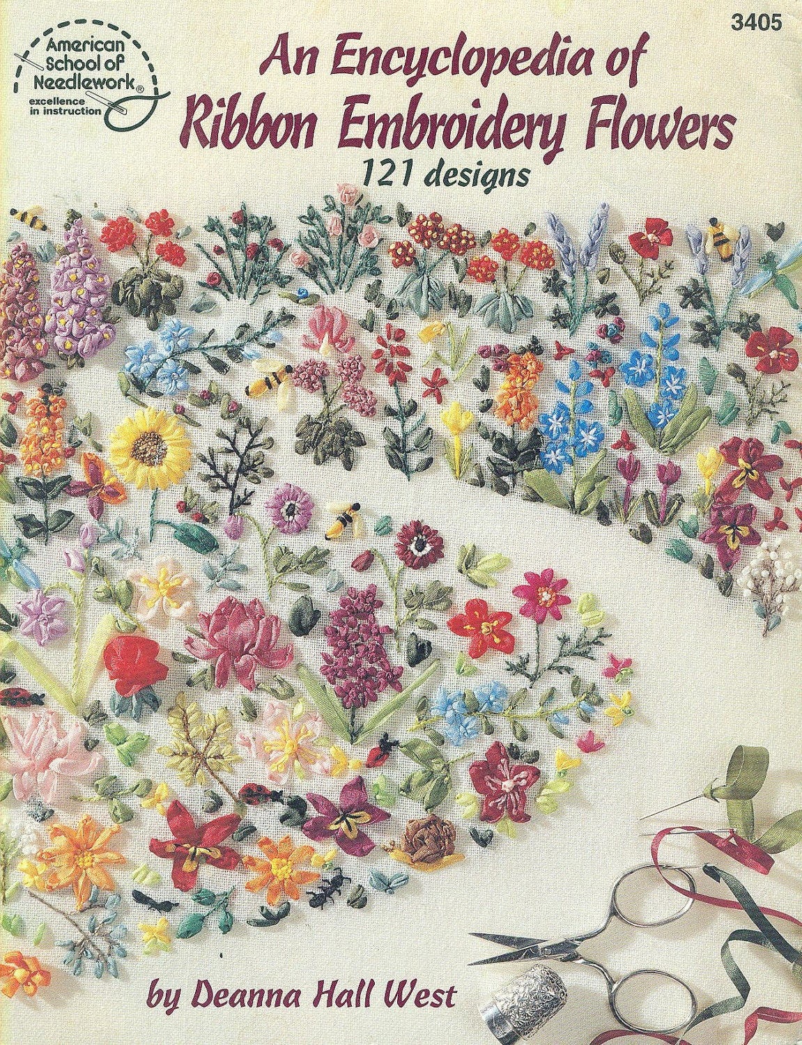 An Encyclopedia Of Ribbon Embroidery Flowers 121 Designs