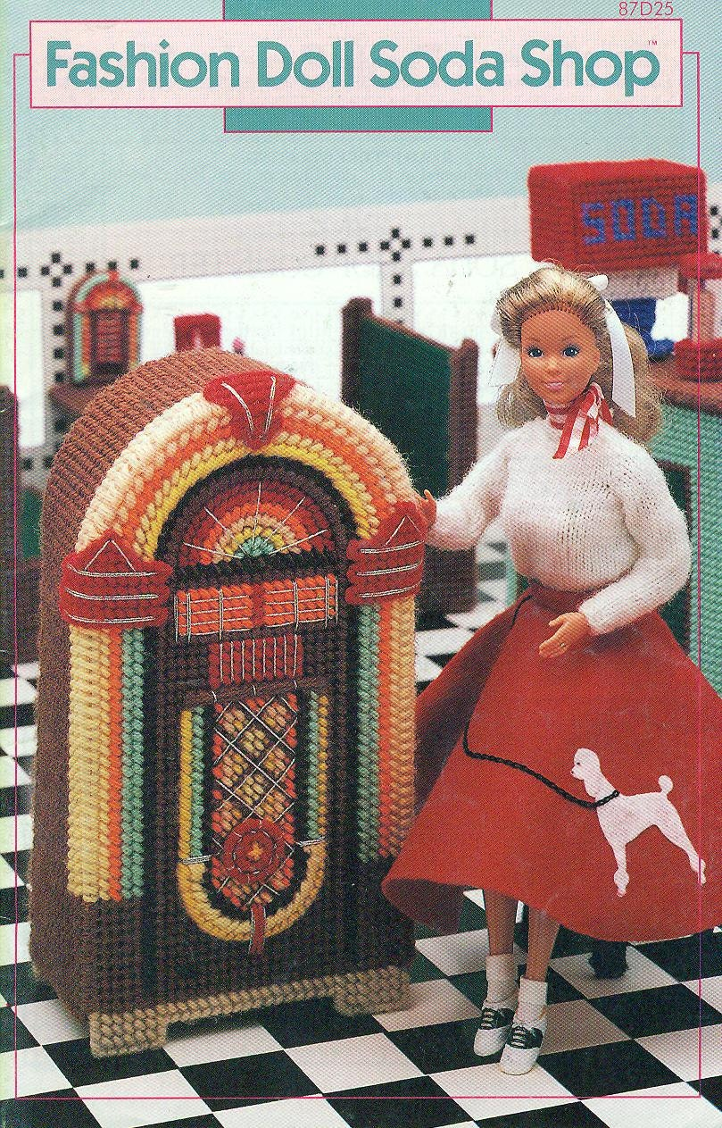 Annie S Attic Plastic Canvas Soda Shop For Fashion Dolls