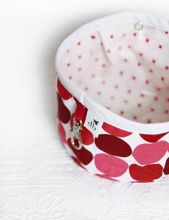 Squishy Travel Pet Water Bowl - Cherry Dots