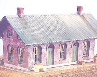 HO Train Building KIT - Vermont Station - 5005