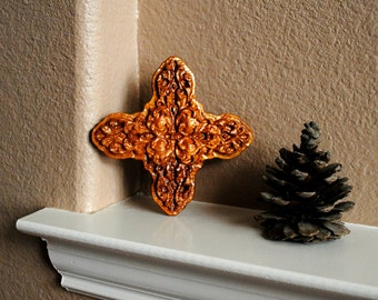 "Carved Wood Cross - ""Brayden"" - Reclaimed Wood"