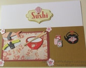 Sushi - Handmade Card
