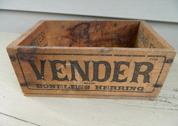 Old Wood Herring Box