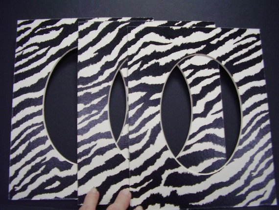 Picture Frame Mats Zebra Print Black And White By Skinnydogart