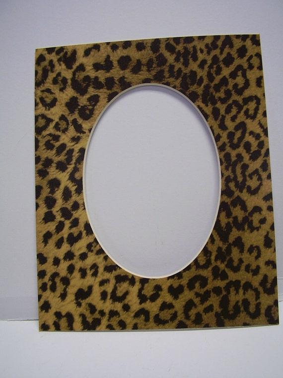 Picture Frame Mat Leopard Cheetah Jaguar Animal Print 8x10