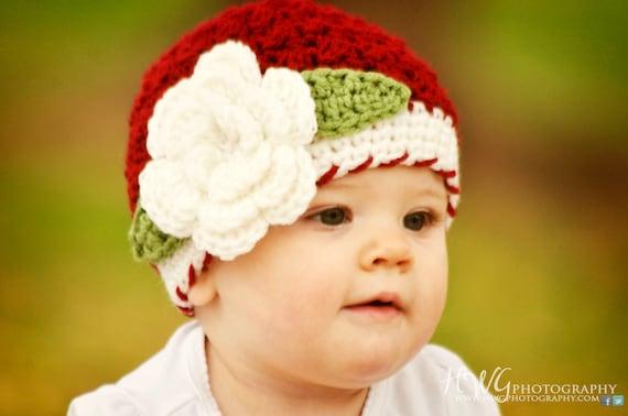 Girls Hat, Christmas Girls Hat, Girls Winter Hat, Baby Girl Hat, Newborn Girl Hat, Baby Girl Beanie, Winter Beanie, Hat for Girls