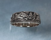 TROUT FISHING Ring in sterling silver - Mountain Fly Fishing