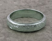 Sterling Silver BARK TEXTURE BAND - 5.5mm width