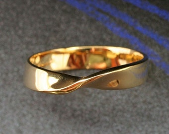 MOBIUS BAND - Continuous, Eternal. This ring made in your choice of 14k yellow, white or rose gold