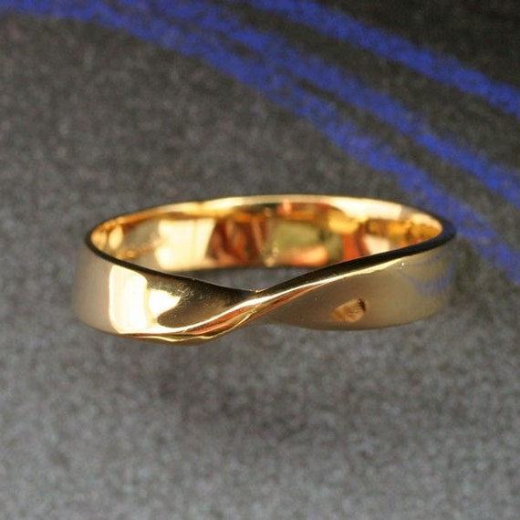 MOBIUS BAND - Continuous, Eternal. This ring in 14k yellow, white or rose gold