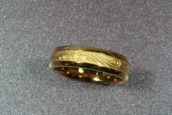 STARRY NIGHTS Wedding Band, 6mm width, 14k Yellow , White, or Rose gold