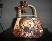 Vintage Day of the Dead Purse