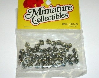 48 Jingle Bells Silver Color 6mm Miniture Collectibles