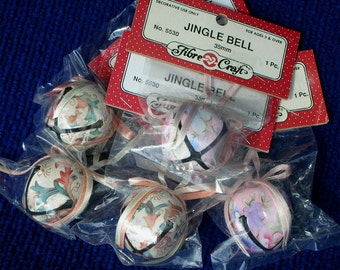 5 Large Jingle Bells 1.5 inch 4 cm