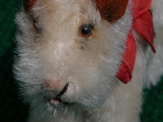 Antique Steiff Original Foxy Terrier Dog Stuffed Animal 1930's