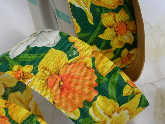 Daffodil Ribbon Fabric 14.5  yards or 13.22 meters