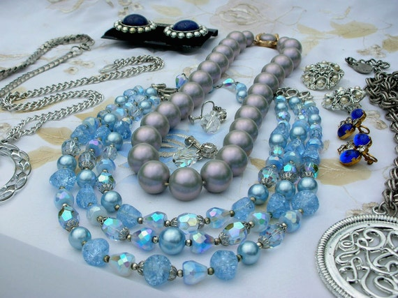Jewelry Sara Coventry, Collectif, Star, Crystal Necklace Earrings Lot