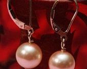 SIMPLY ELEGANT Pearl Sterling Silver Earrings