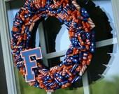 """Varsity Ribbon Wreath - 14"""""""