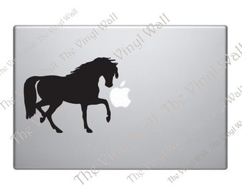 Horse Vinyl Decal Sticker Skin for Laptops Walls Cars and all Apple MacBooks