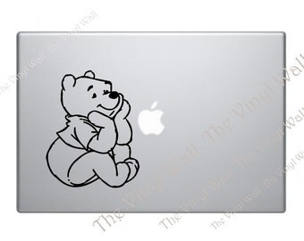 Pooh Bear - Vinyl Decal Sticker for computer wall car and fits all Apple MacBooks Mac Pro