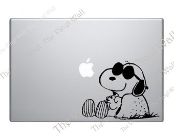 Snoopy Kicking Back Vinyl Decal Sticker for wall car all laptops macbooks