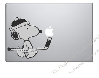 Snoopy Playing Hockey Vinyl Decal Sticker for Wall Car Laptops Macbooks