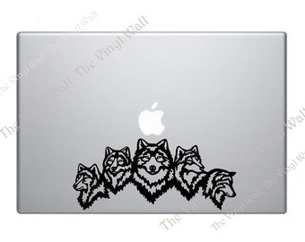 Wolf Pack Vinyl Decal Sticker for Laptop Wall Car and More