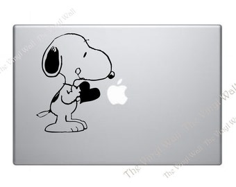 Snoopy Love Vinyl Decal Sticker for Wall Car Laptops Macbook
