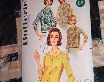 1960s Butterick Pattern 2683 Women's Blouse Size 14 Bust 34