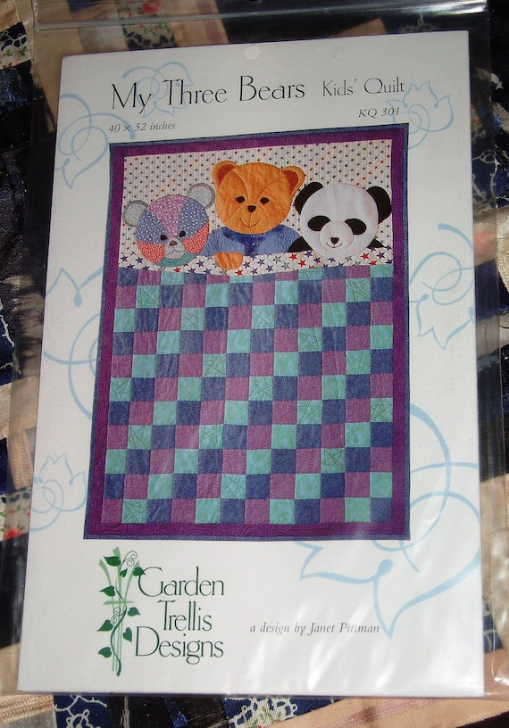 1998 garden trellis designs my three bears quilt pattern janet for Garden trellis designs quilt patterns