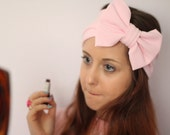 Beauty Bow Head Wrap - Baby Pink