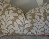 BEAUTIFUL Decorative Pillow Cover  14x 24  Leaf Foliage, Neutral  -  Throw Pillow-Cushion