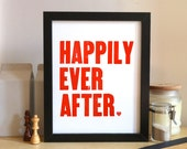 Happily Ever After - Red 8x10