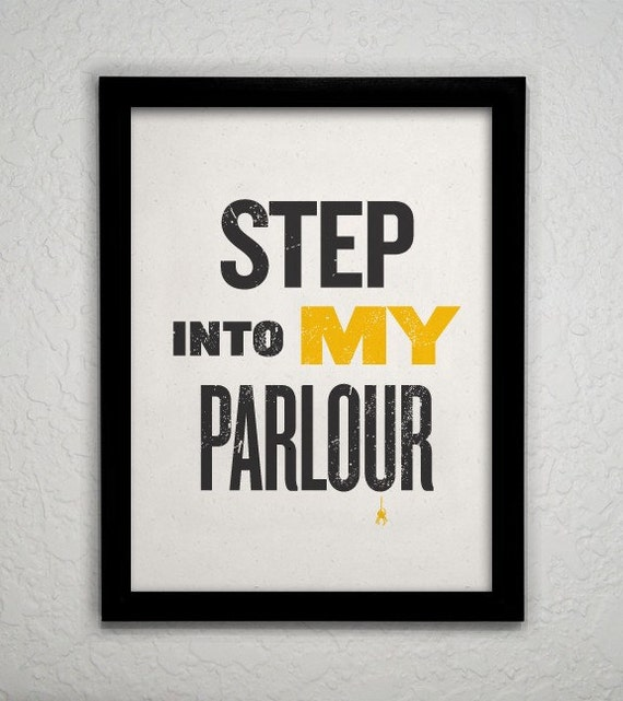 Step Into My Parlour - Yellow 8x10