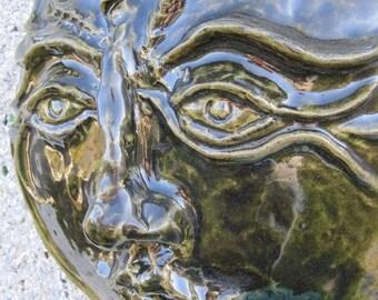 Saraswati Goddess of Arts Music Knowledge and Wisdom Garden Sculpture  Mask indoor outdoor home decor