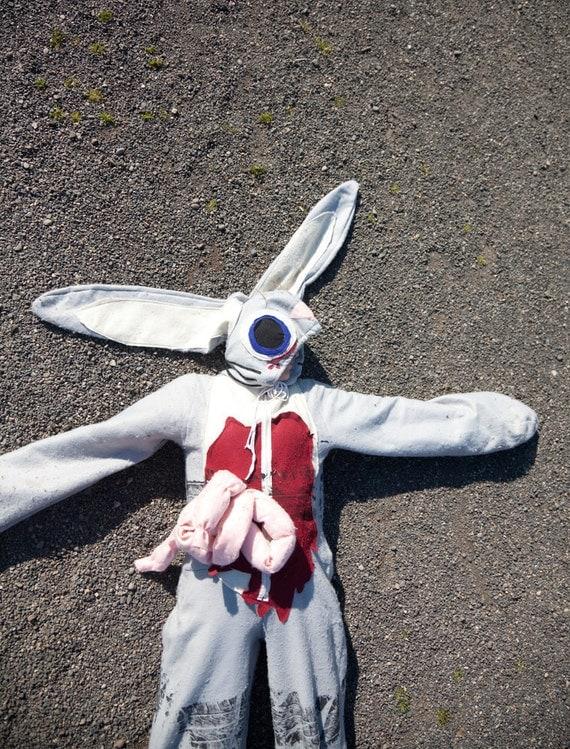 Roadkill Bunny Rabbit Halloween Costume Adult or Child's Custom Size