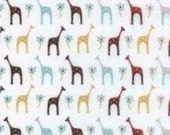 Iced Giraffe - poly knit PUL - XLarge diaper cut -  29 x 14 - LAST ONE