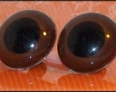 1 inch or 24mm Brown plastic eyes for bear, dog or animal w/backs safety eyes 1 pair
