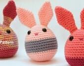 Amigurumi Egg Bunny Toy Pattern-Instant Download